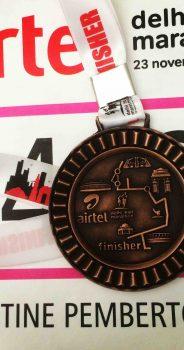 My first Airtel Delhi Half Marathon.  Brilliant fun!