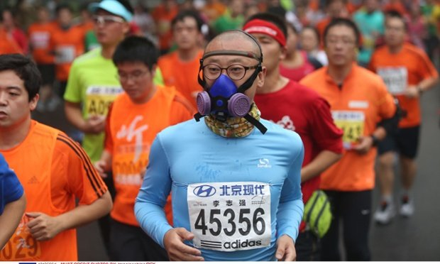 Should you wear a mask when you go for a run in a polluted city?