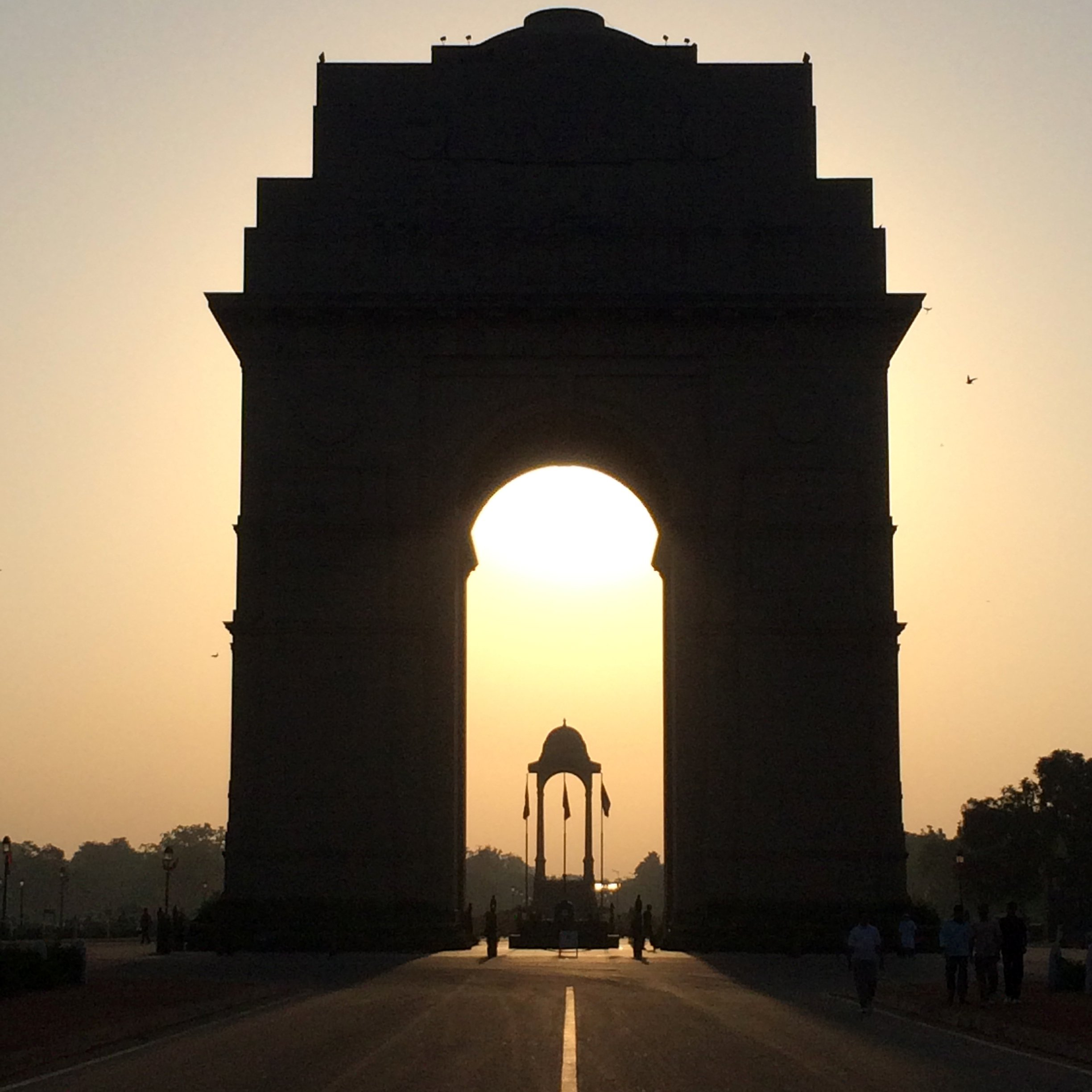 Where to run in New Delhi.     Suggested route #1