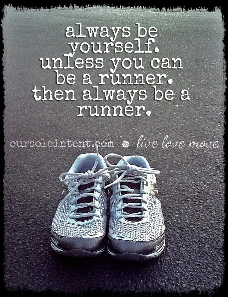 Absolutely!  Your running thought for the day