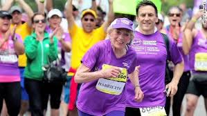 Inspirational. A 92 year old runs her 16th marathon