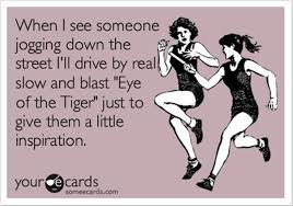 What's on your running playlist?  EYE OF THE TIGER