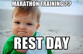 Training for your first marathon.  Let's talk about NOT running…