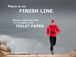 How to train for your first marathon.  Let's talk about bathroom breaks