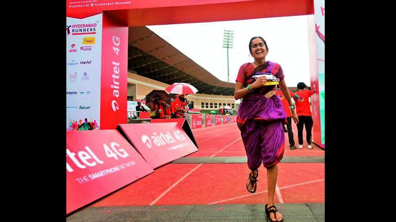 Wear a sari.  Run a marathon.