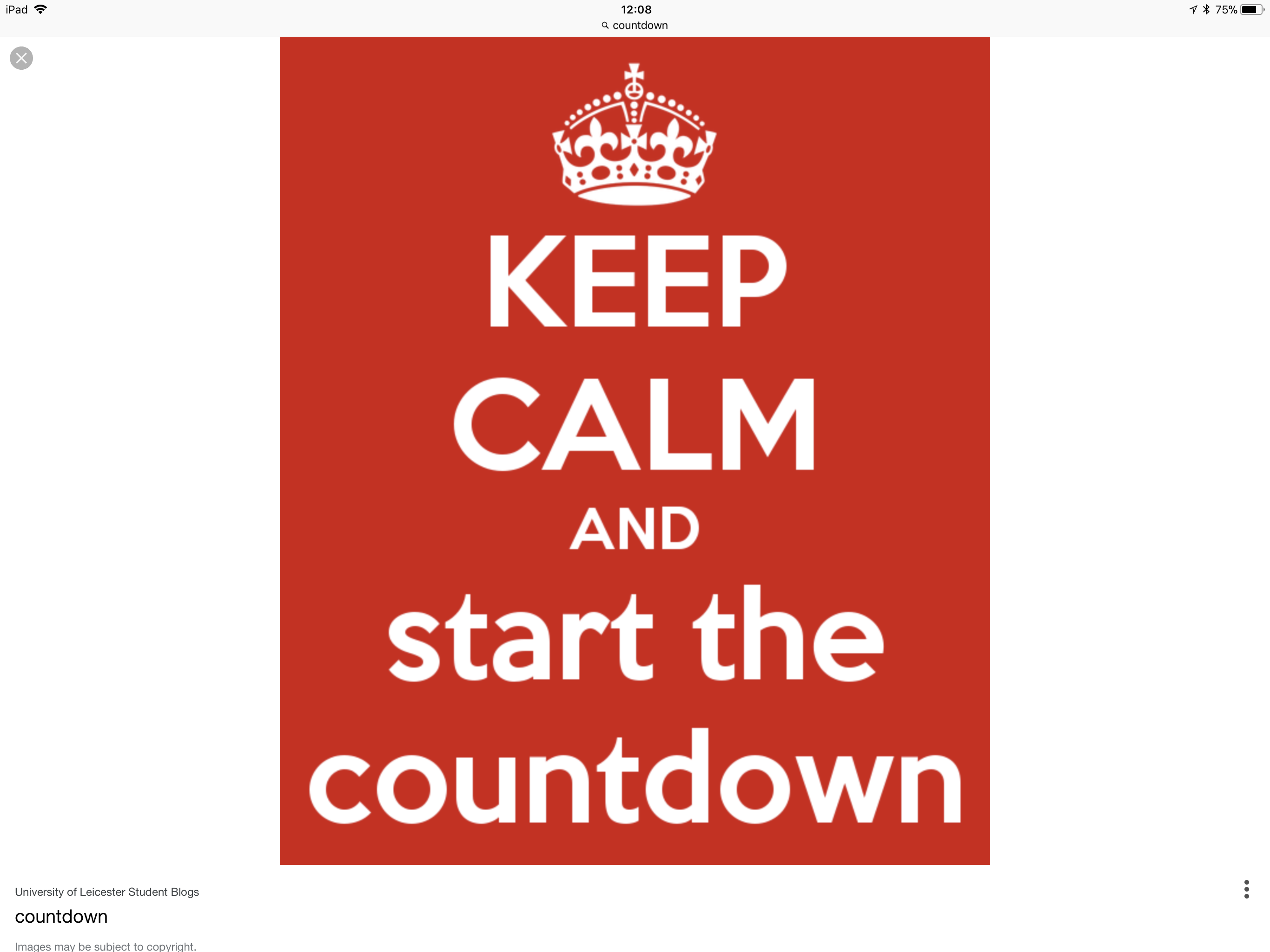 And the panic – sorry – countdown, officially begins