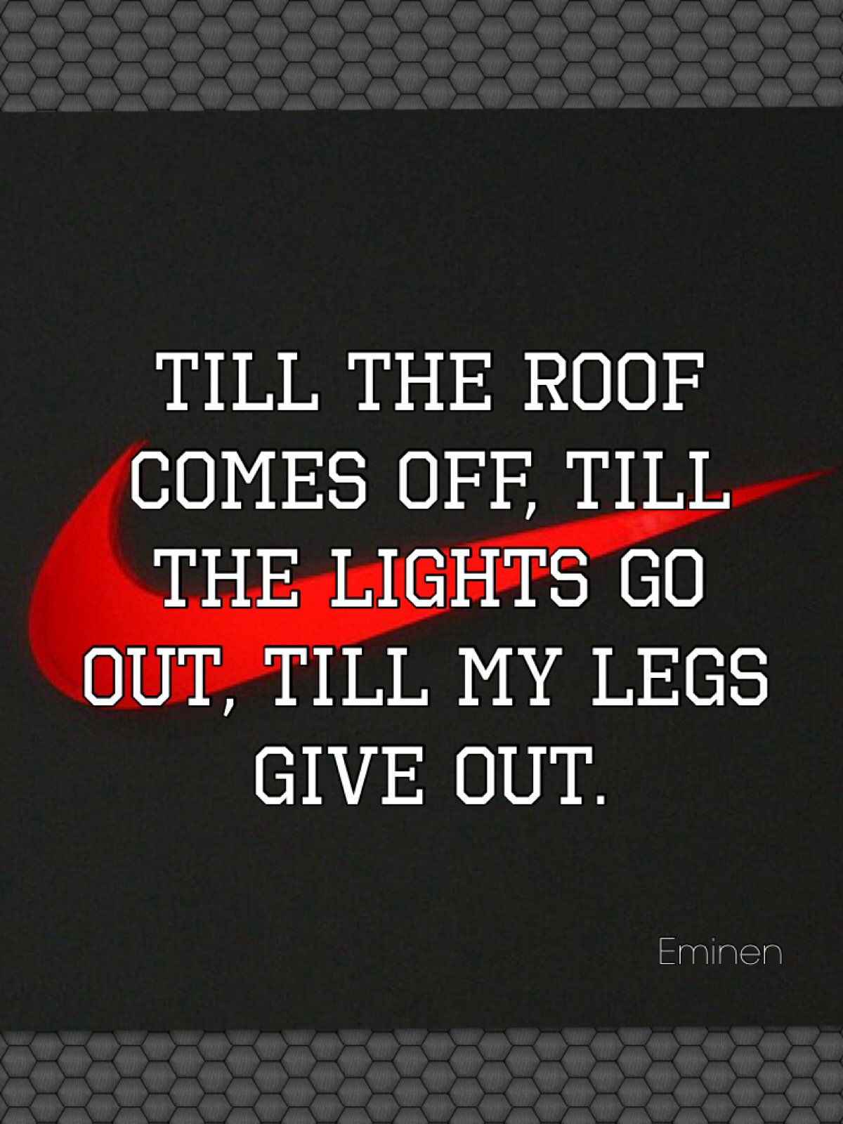 "What's on your running playlist? Eminem's ""Till I collapse"""