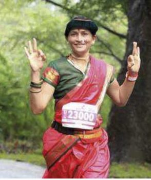 Wear a sari.  Run a World Major Marathon